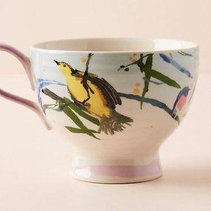 NWT Anthropologie Raven Roxanne Songbird Mug